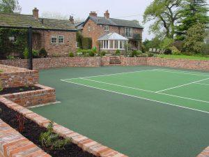 Tennis Court Garden 9